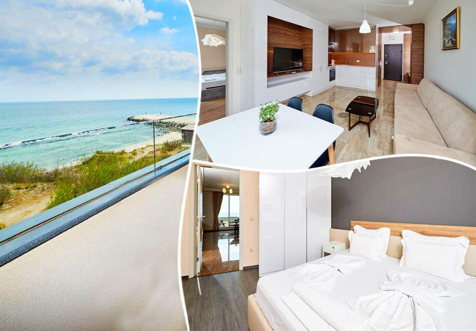 Нощувка за четирима в едноспален апартамент на 10м. от плажа в Ботабара дел Мар Апартмънтс, Поморие
