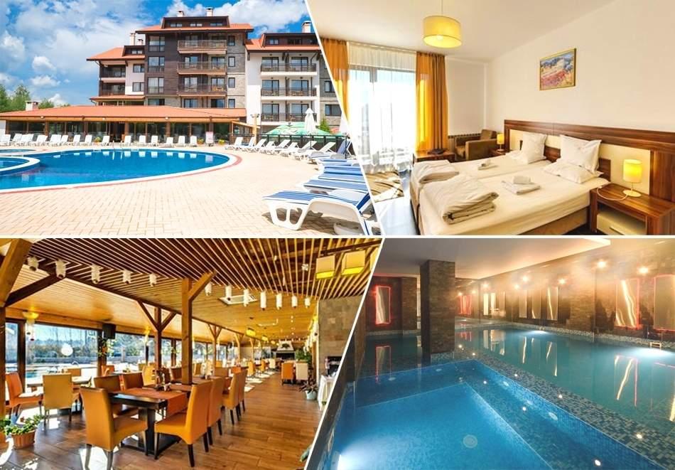 Нощувка на човек със закуска + вътрешен басейн и Термална зона от Балканско Бижу апартхотел****, до Банско