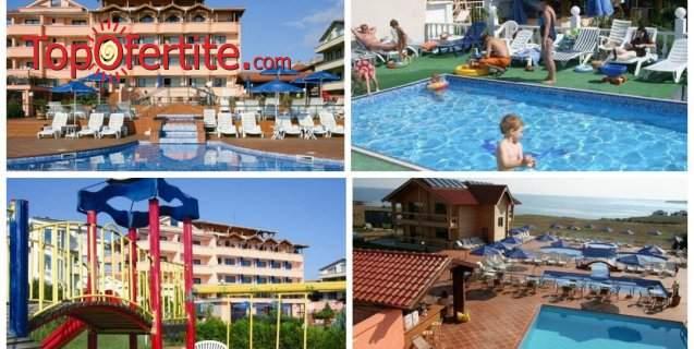 На море в Хотел Роза, Черноморец! Нощувка + закуска, обяд, вечеря и външен басейн на цени от 28 лв. на човек
