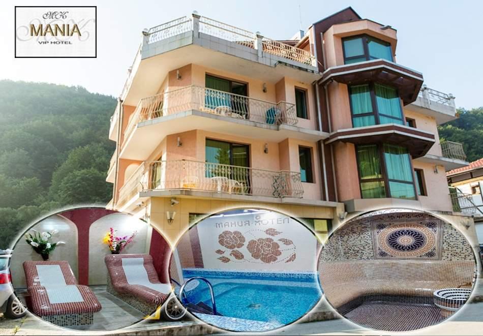 1 или 2 нощувки на човек със закуски + басейн и джакузи с минерална вода в хотел Мания, с. Чифлик