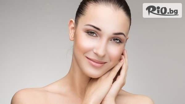 Почистване на лице с четков пилинг + мануален масаж или хидратираща терапия на лице, от Студио за красота Брилянт