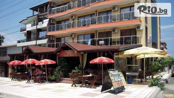 Почивка в Китен от 11 до 19 Юли! 3, 5 или 7 нощувки със закуски и вечери + панорамен басейн с гледка, от Семеен хотел Русалка