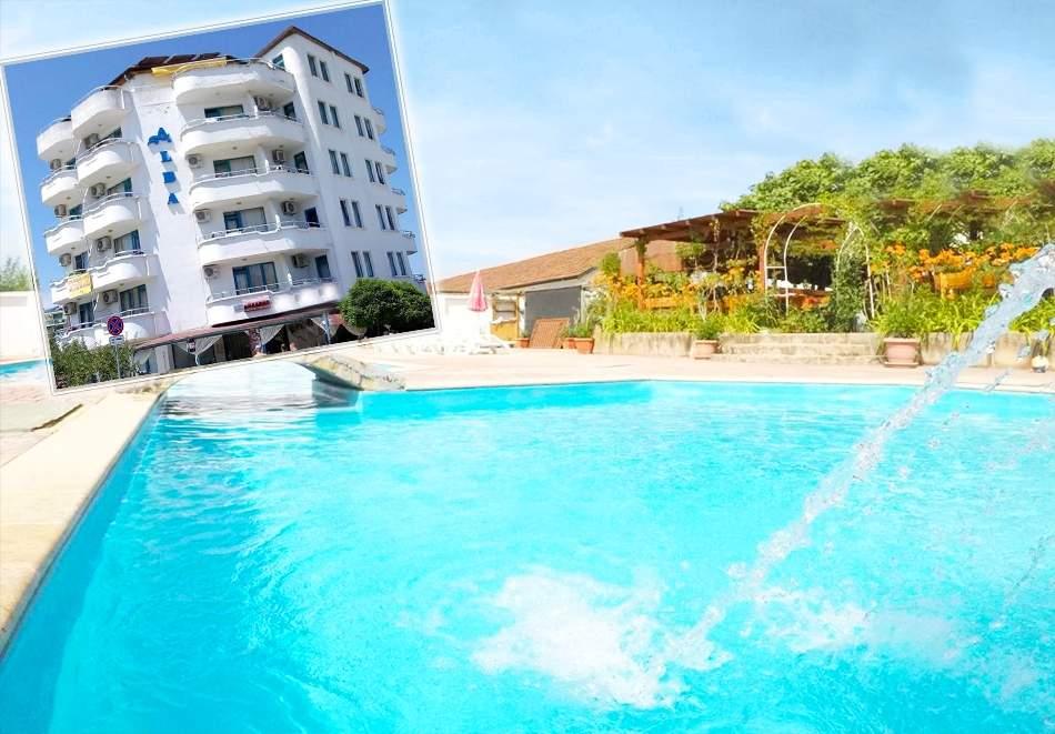 Нощувка на човек със закуска + басейн в хотел Алба Фемили Клуб, Приморско!