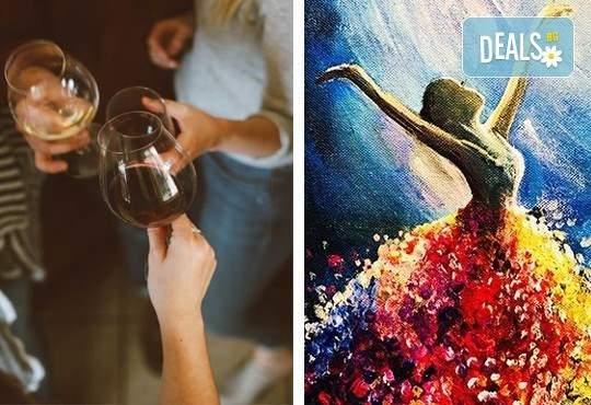 """Рисуване и вино с """"Танц на лунна светлина"""" на 20.09. (неделя) в Арт ателие Багри и вино"""
