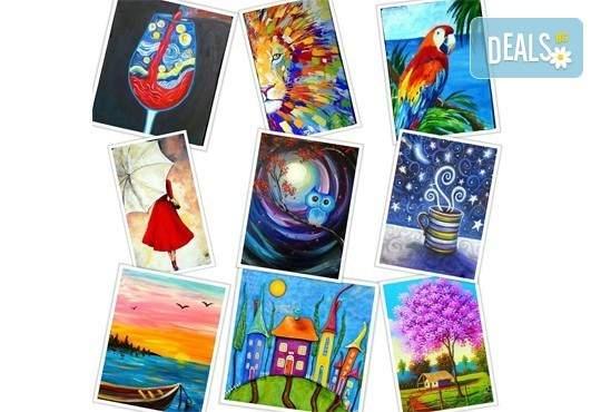 В цветовете на любовта! Рисуване и вино в Пух арт студио