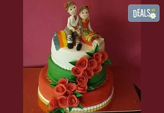 Торта на традициите 25 парчета за почитателите на фолклора от Джорджо Джани