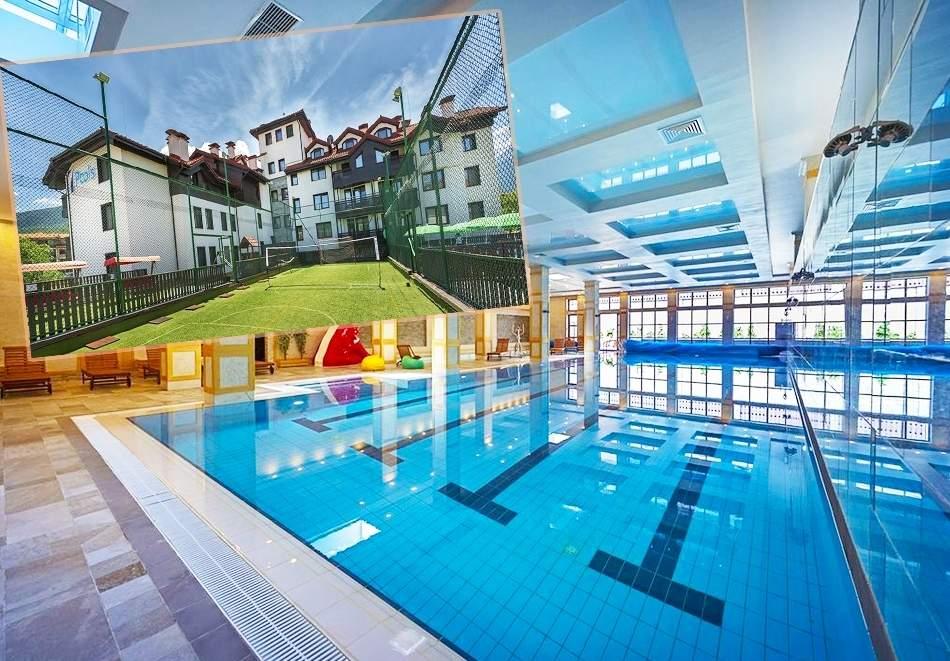 Ваканция в хотел 7 Пулс & СПА Апартмънтс, Банско! Включва басейн и изхранване вечери/закуски!