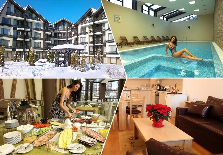 Отпочивайте в Аспен Резорт*3, Банско! Включва басейн и изхранване вечери/закуски!