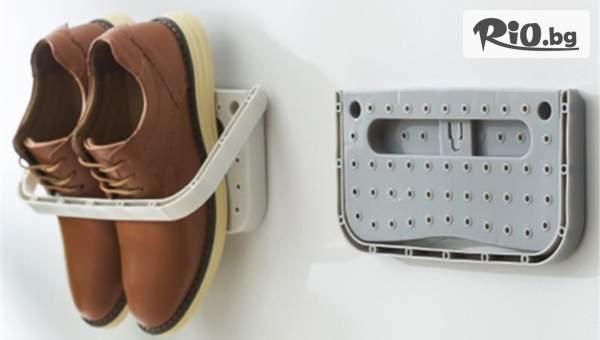 Органайзер за един чифт обувки, който се монтира на стената, от Topgoods.bg