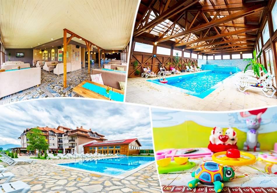 Голяма почивка в хотел Севън Сийзънс, Баня! Включва басейн с минерална вода и изхранване вечери/закуски!