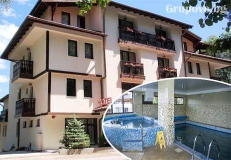 Нощувка на човек със закуска и вечеря + басейн и релакс зона с минерална вода в хотел Емали, Сапарева Баня