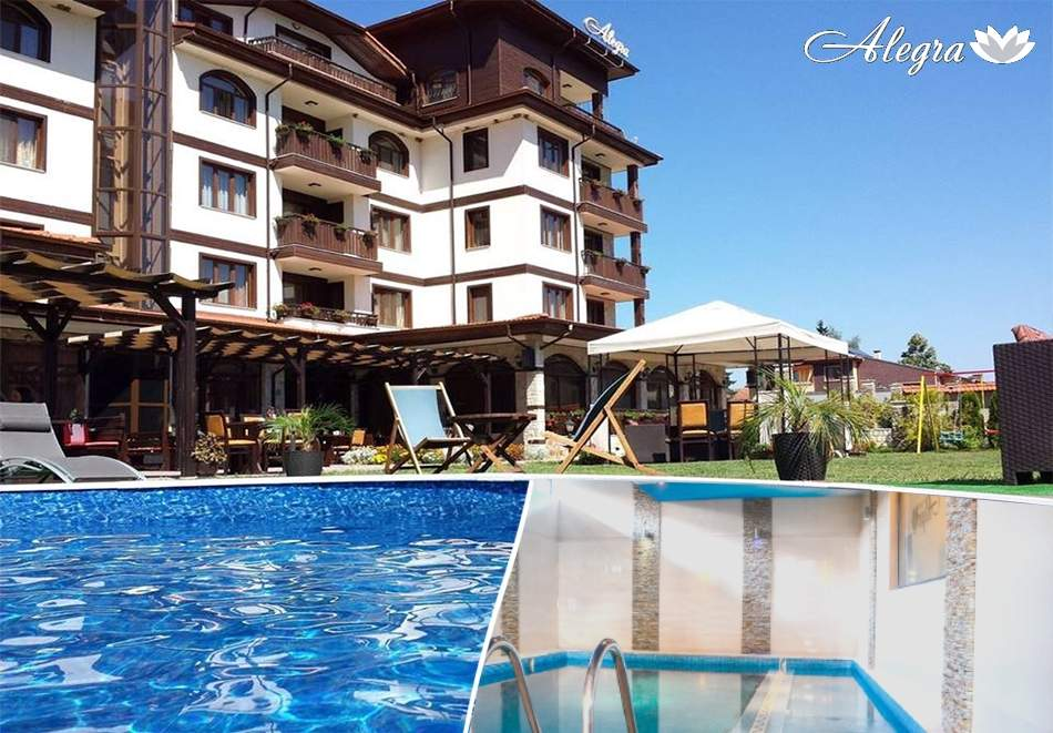 Релаксирайте в хотел Алегра, Велинград! Включва зона за релакс, басейни с минерална вода, вечери и закуски!