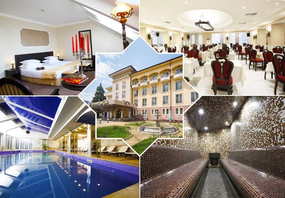 Нощувка със закуска и вечеря за двама + СПА и басейн с минерална вода от СПА хотел Стримон Гардън*****, Кюстендил
