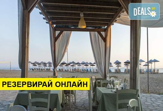 Нощувка на база BB,HB,FB в Across Coral Blue Beach Hotel 3*, Геракини, Халкидики