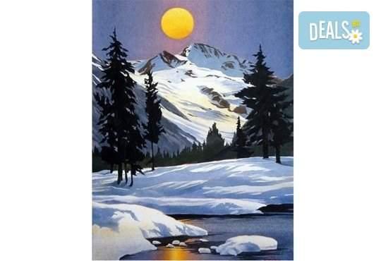 """Рисуване на """"Зимна приказка"""" с акварел на 31.01. от 19ч. в Пух арт студио"""