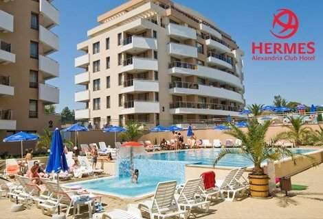 Релаксирайте в Хотел Хермес Александрия клуб****, Царево! Включва аквапарк