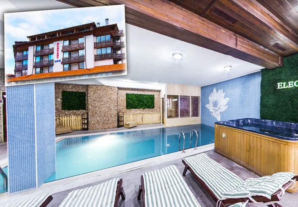 Посрещнете Студентския празник в хотел Елегант Лукс, Банско! Включва зона за релакс, басейн, вечеря и закуски!