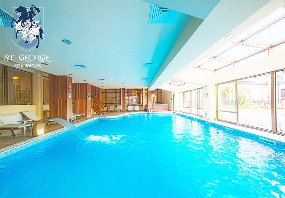 Топ оферта! Почивайте в хотел Сейнт Джордж Ски & Холидей*4, Банско! Включва зона за релакс, басейн и изхранване вечеря/закуска!