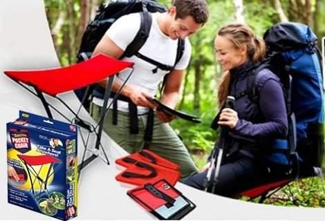 Удобен и практичен сгъваем стол към рибарския ви арсенал! Вземи един много полезен преносим стол, който можете да сложите в джоба си, сега само за 5.90 лв.