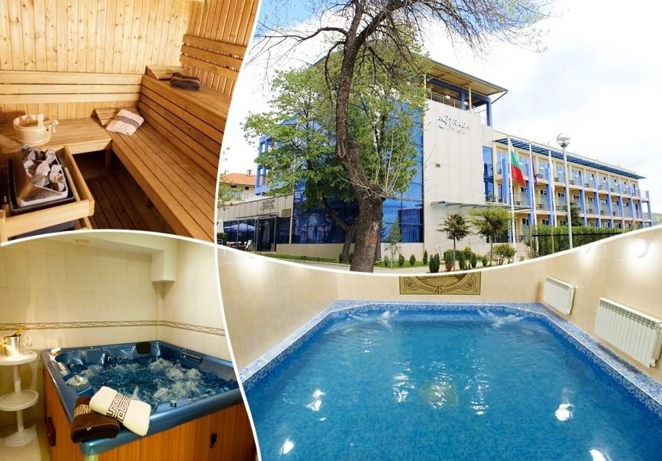 Нощувка със закуска, обяд и вечеря на човек + минерален басейн и релакс зона от хотел Астрея, Хисаря