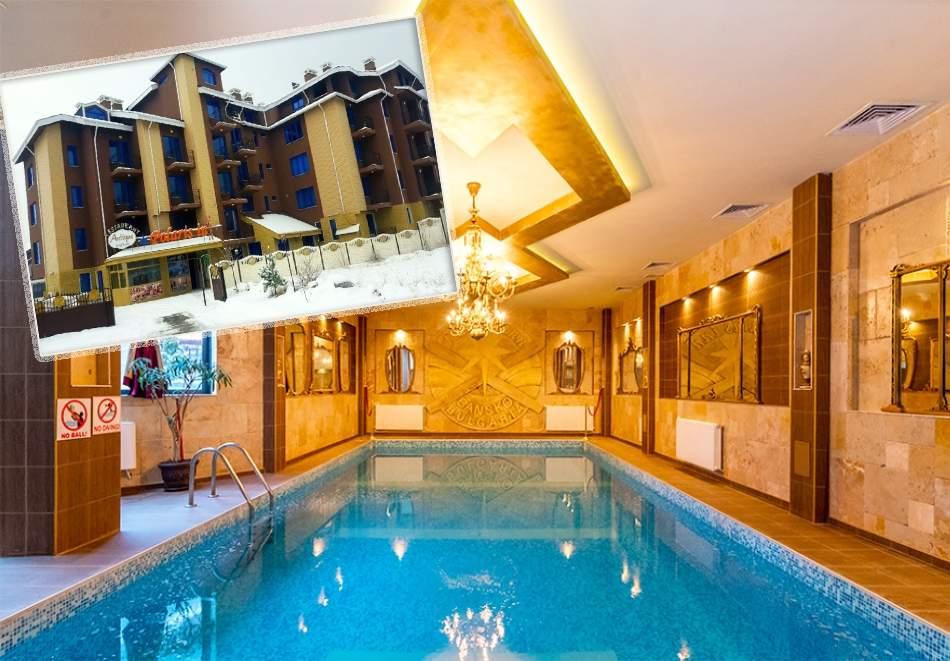 Нощувка на човек със закуска + басейн и сауна в комплекс Поларис Ин, Банско