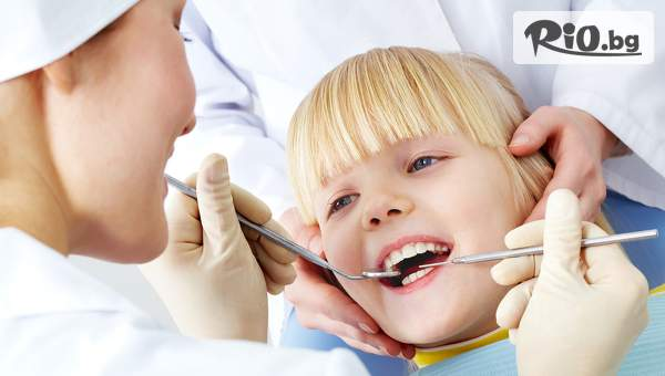 Детска фотополимерна пломба със специални цветни ефекти и лечение на кариес с 60% отстъпка, от Стоматологичен кабинет Д-р Лозеви