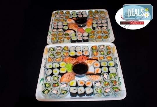 Голямо хапване от Sushi Market! Включени 120 суши хапки