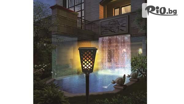 Соларна LED лампа тип Пламък, от Topgoods.bg