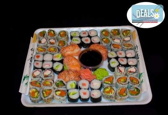 Вкусно с Sushi Market! Включва суши хапки!