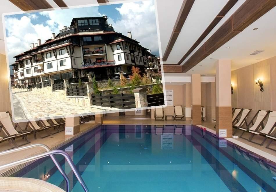 Ваканция в хотел Мария Антоанета, Банско! Включва зона за релакс и басейн! + Изхранване вечери и закуски!