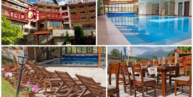 Хотел Св. Иван Рилски 4*, Банско! Нощувка + закуска, голям басейн, трансфер до Пистите, сауна, джакузи и СПА пакет на цени от 73,75 лв. на човек