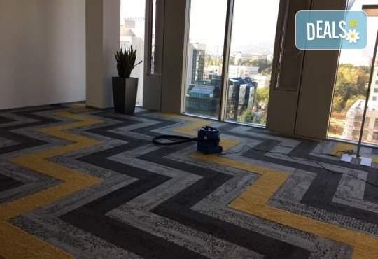 Професионално машинно пране на меки подови настилки от АТТ- Брилянт