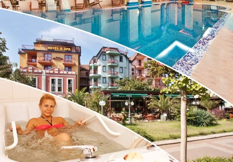 2 + нощувки на човек със закуски + 2 или 3 лечебни процедури на ден + басейн и СПА в хотел Сейнт Джордж****, Поморие