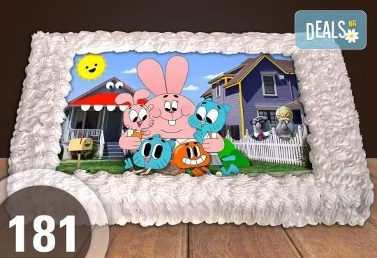 За децата! Торта 20/ 25 или 30 парчета със снимка от Сладкарница Джорджо Джани