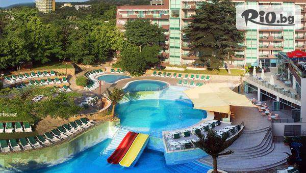 Ранно записване за море в Златни пясъци! All Inclusive нощувка + басейни, водни пързалки, шезлонг, чадър и детска анимация, от COOEE Mimosa Sunshine Hotel