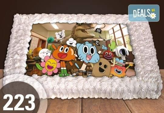 Голяма детска торта 20/ 25 парчета със снимка от Сладкарница Джорджо Джани