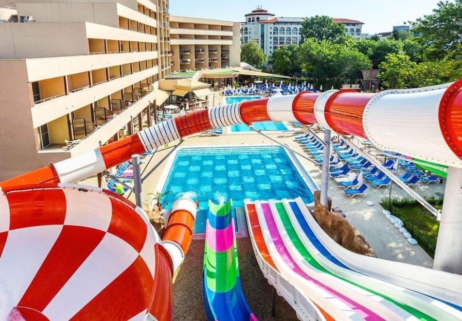 Нощувка на човек на база All Inclusive + безплатен АКВАПАРК в хотел Лагуна Парк****, Слънчев бряг. ДЕТЕ ДО 11.99 БЕЗПЛАТНО!