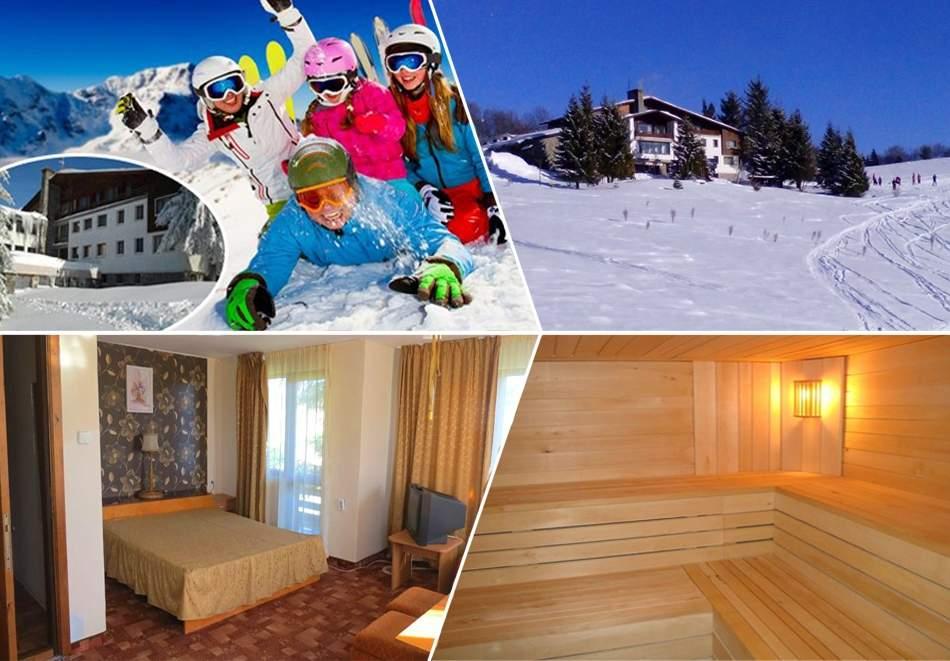 СКИ почивка до Габрово! 3, 4 или 5 нощувки на човек със закуски и вечери + ски оборудване от хотел Еделвайс, м. Узана