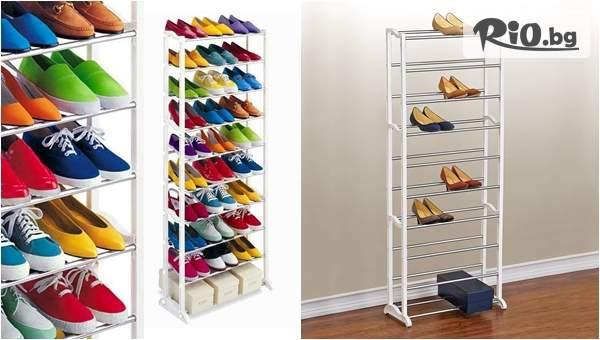 Голяма етажерка за до 30 чифта обувки на промо цена, от Topgoods.bg