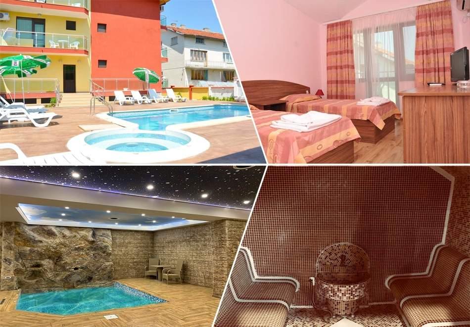 Отпочивайте в хотел Жаки, Кранево! Включва изхранване закуска! Плюс център за релакс и басейни!