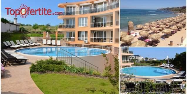 На море във Вила Ориндж 3*, Созопол! Нощувка в апартамент + басейн, шезлонг и чадър около басейна на цени от 47 лв. за помещението
