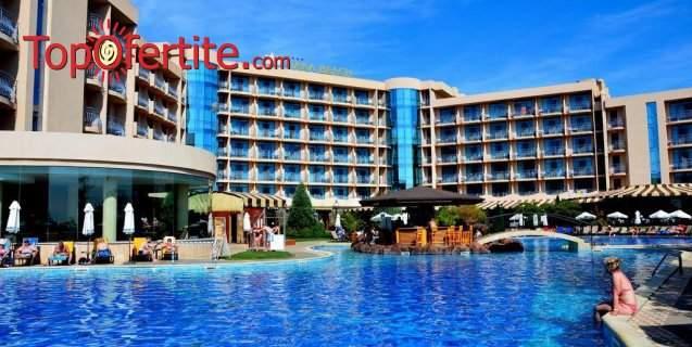 На море в Хотел Тиара Бийч 4*, Слънчев Бряг - на 100м от плажа! Нощувка на база All Inclusive + басейн, чадър и шезлонг на цени от 82,50 лв. на човек