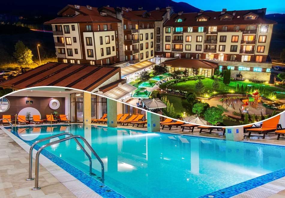 Нощувка на човек със закуска и вечеря + вътрешен отопляем басейн и СПА зона от Мурите Клуб Хотел, до Банско