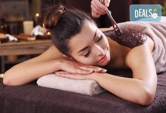 Релаксиращ 45-минутен масаж с масло от шоколад или жасмин в Chocolate Studio