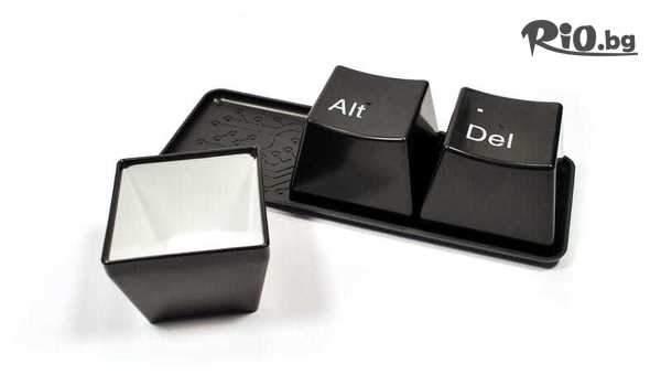 Комплект чаши от 3 чаши/купички с надписи Ctrl, Alt, Del, от Topgoods.bg