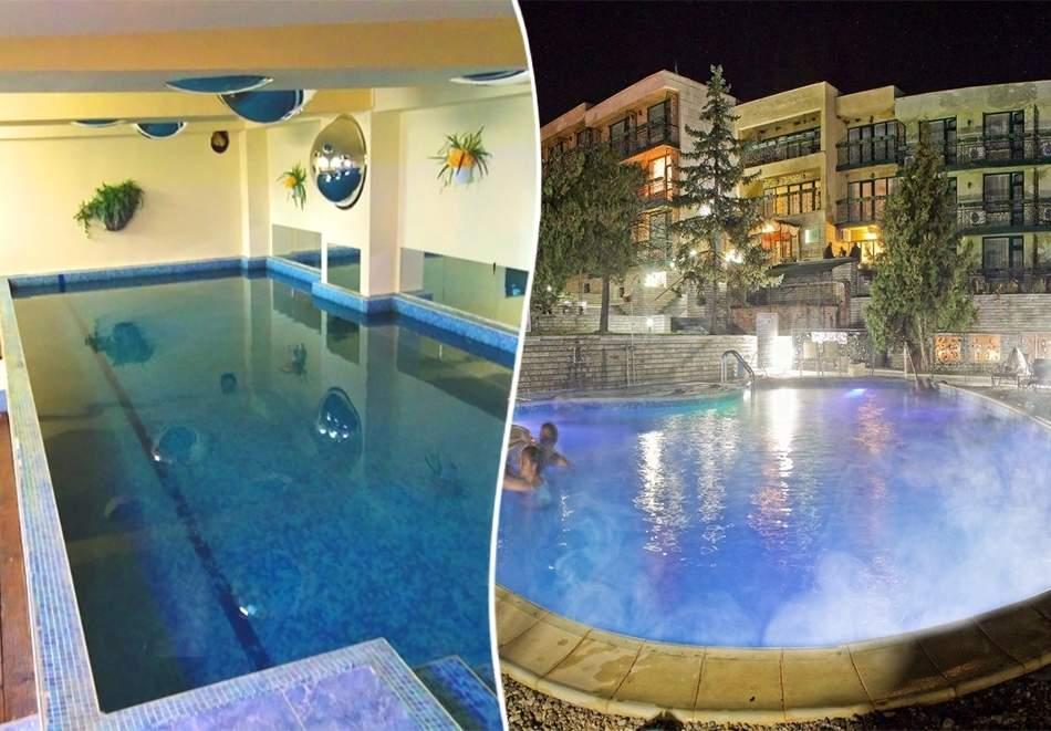 Почивка до Костенец! Нощувка на човек със закуска и вечеря с напитки + външен и вътрешен басейн с гореща минерална вода и сауна от хотел Виталис, Пчелински бани