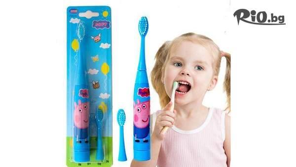Детска електрическа четка за зъби Peppa Pig, от Topgoods.bg