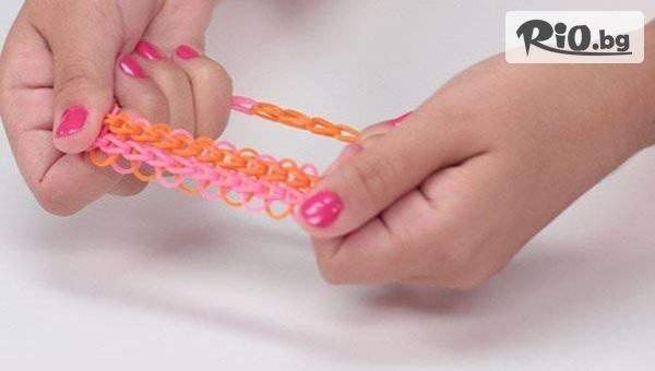 Стан и Ластици за плетене на гривни от ластици с 55% отстъпка, от Topgoods.bg