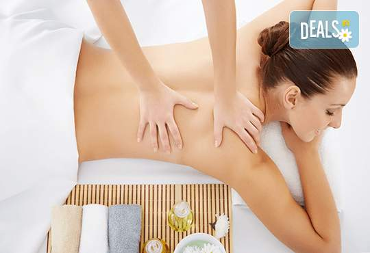 45-минутен масаж на цяло тяло и масаж на глава или рефлексотерапия в Женско Царство