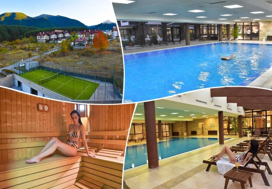 Пълен релакс в хотел Роял Банско Апартмънтс, Банско! Включва басейн, зона за релакс, вечери и закуски!